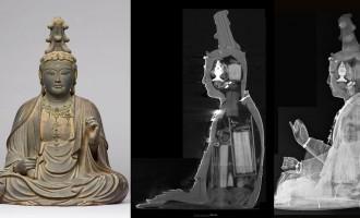つめ込みすぎでしょ!鎌倉時代の仏像内部から巻物など大量の納入品の存在が確認されました