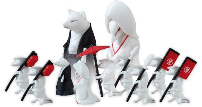 狐に萌えキュン♪行列作って飾りたいほどに可愛いミニフィギュア「狐の婚礼」
