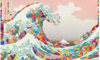 葛飾北斎の人気作品モチーフのサイケなアートグッズ「NEO HOKUSAI」がカッコイイ!