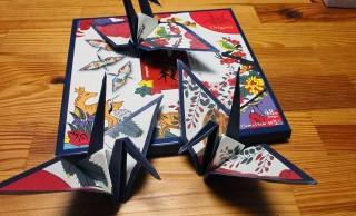 折った時の達成感たらない!花札の絵柄をそのまま折り鶴のデザインにした「折り札」を折ってみた