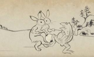 な、なんだこれは(笑)鳥獣戯画なスペシャルムービーをブルボンが公開、サッカー日本代表公認商品発売に合わせて