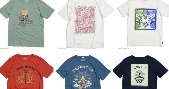 """日本文化をクリエイティブに表現!""""日本のお土産""""がテーマのアーティストコラボTシャツがGOHEMPから登場"""