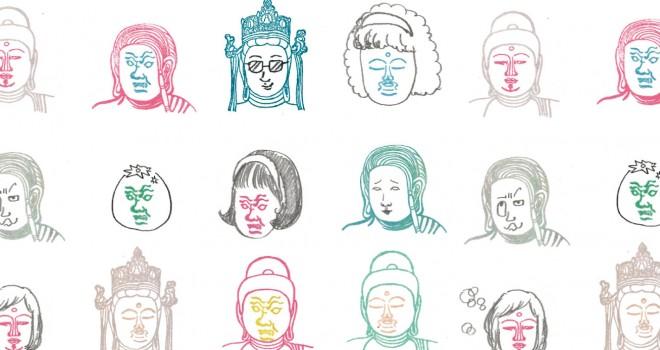 この発想www 表情と顔出しを別々に押してオリジナル仏像が作れる「顔出し仏像はんこ」