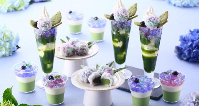 紫陽花のような華やかさ!伊藤久右衛門の季節限定「紫陽花パフェ」がSNSで話題