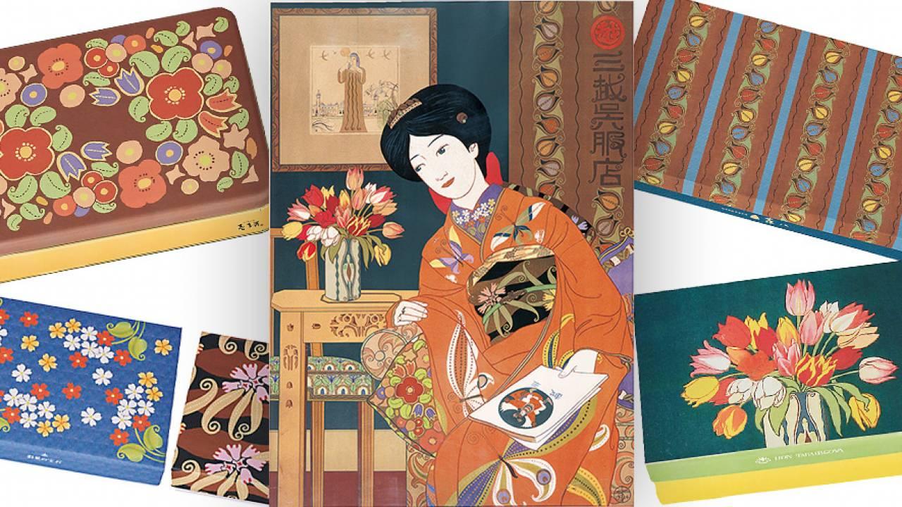 圧倒的な色彩感覚!大正3年 三越呉服店の伝説のポスターが三越お中元ギフトの化粧箱で蘇る!