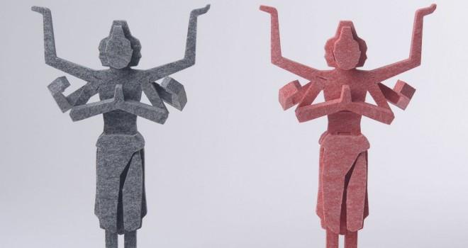 【読者プレゼント】斬新すぎる仏像のカタチ。フェルト生地で組み立てる「フェルト ZEN 阿修羅」プレゼント!