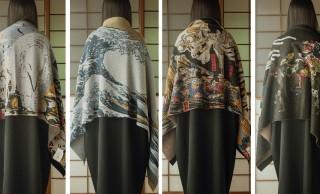 日本画の名作を巻く。北斎や国芳、若冲の作品がストールになりました!