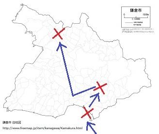 大永鎌倉合戦・地図