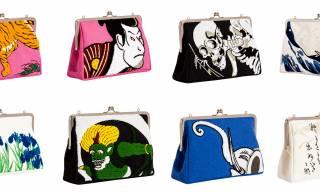 浮世絵や日本画の名画がモチーフの大胆デザイン「京東都 がま口クラッチバッグ」が可愛すぎる!