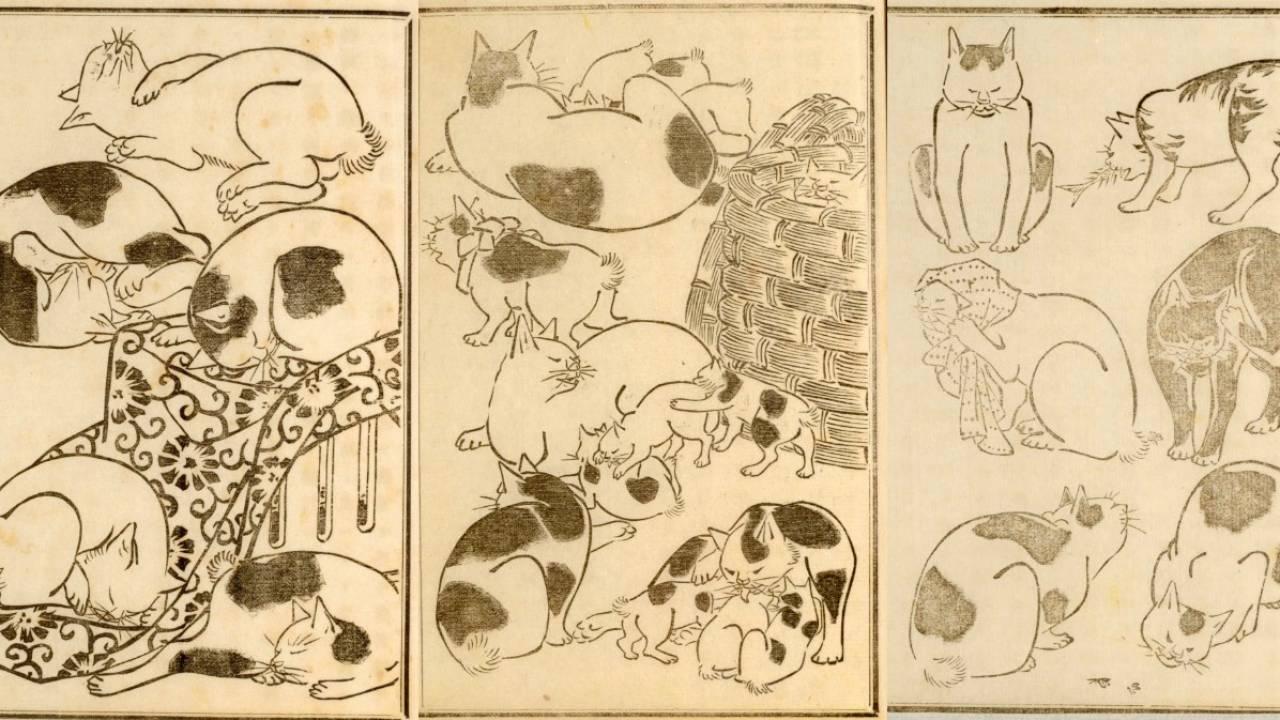 可愛い猫ちゃん大集合!三代 歌川広重が描いた「百猫画譜」の猫づくしに胸キュン♪