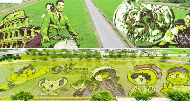 この村、超越してる!田舎館村の2018年の田んぼアートが他の追随を許さないクオリティに