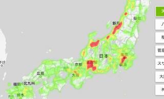 """天照、八幡、稲荷…日本全国の""""神さまの分布""""を見える化した「神さまマップ」をホトカミが公開"""