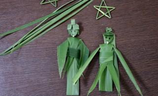 七夕にぴったり!笹の葉だけで作られた織姫と彦星がステキ♪動画で作り方も紹介