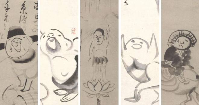 仙厓義梵の作品ギャラリー(「仙厓禅師墨林冊」より)