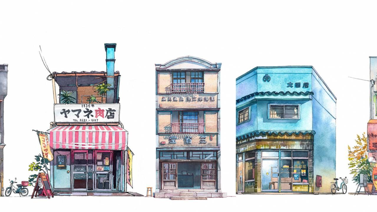 秒速で惚れたこの作風!哀愁漂うノスタルジックな東京の建物を描く「Tokyo Storefronts」が素晴らしい