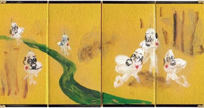 日本の伝統美を独自の視点でゆる〜く表現した、しりあがり寿の個展「ゆる和Ⅱ 月と劣化」開催