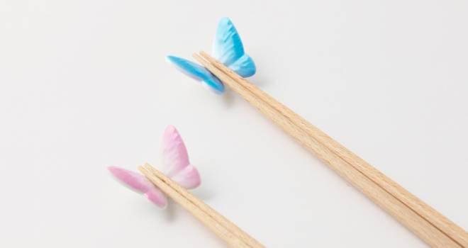 まるで蝶が小枝にとまっているような箸置き「Butterfly Rest & Chopstick」が可愛い!
