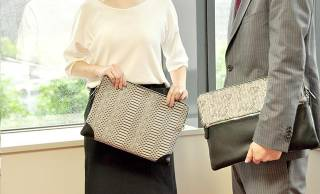 京都の伝統技法「しごき染」と繊細な伊勢型紙で作られたスタイリッシュなオフィスアイテムが素敵!