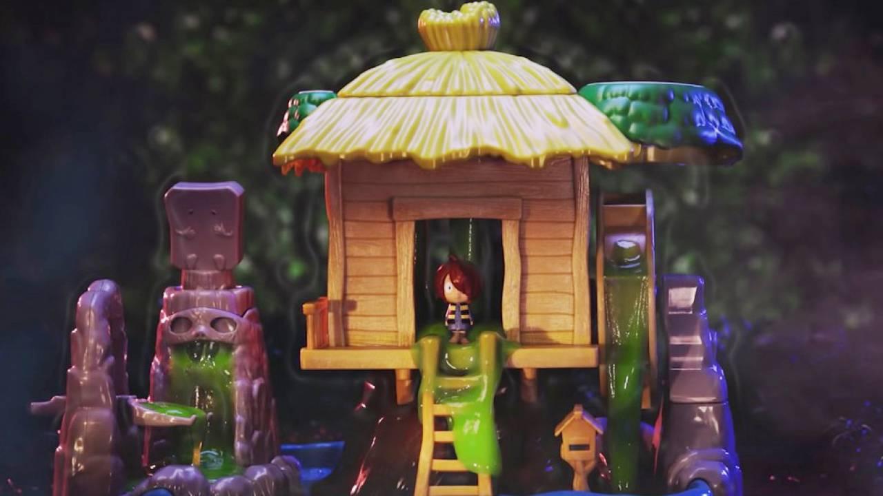 ヌメヌメじゃないか(笑)ゲゲゲの鬼太郎の家をスライムでヌルヌルにするというマニアックすぎる玩具が発売!