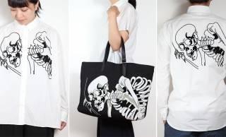 歌川国芳のあの有名な「妖怪 がしゃどくろ」を刺繍で大胆にあしらったアイテムがカッコいい!