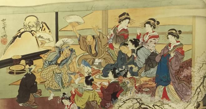 太鼓持の語源や意味は?江戸時代、吉原遊郭での宴会の盛り上げ役からきています