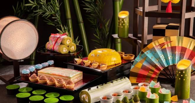 竹取物語 かぐや姫の世界をイメージしたデザートブッフェ「月夜に思ふ姫君」が開催!