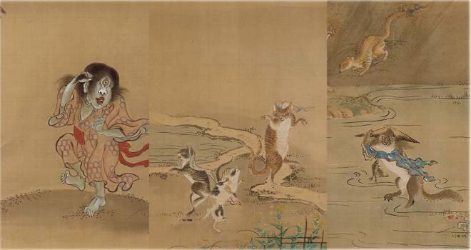 妖怪画のドン!喜多川歌麿や歌川派の開祖を育てた鳥山石燕の画力が発揮された「百鬼夜行図巻」