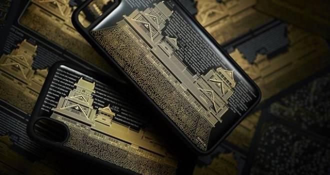 まるで蒔絵みたい!電池無しで熊本城が光る基板製スマホケースがカッコいいぞ!