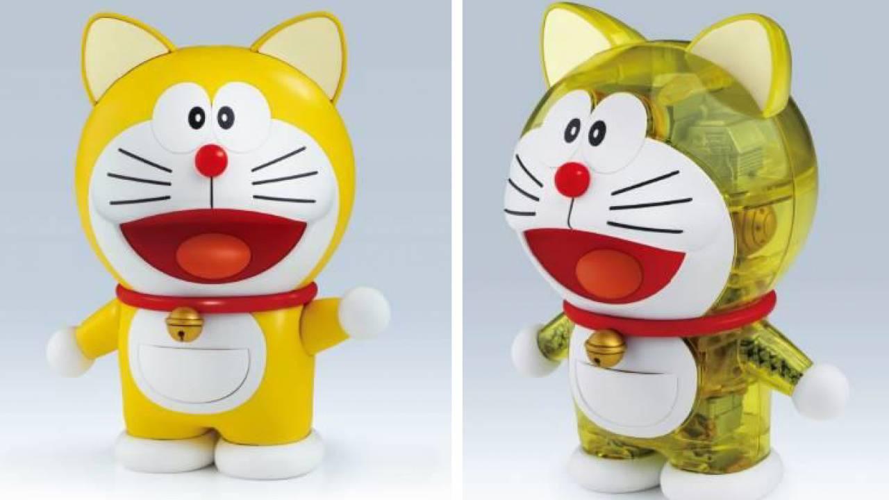 黄色くって耳もあるよ♪誕生当時の元祖ドラえもんが組み立てプラモになって登場!