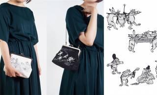 コーデに可愛い国宝を♪鳥獣戯画のクラッチバッグ&ワッペンが京東都から新登場!