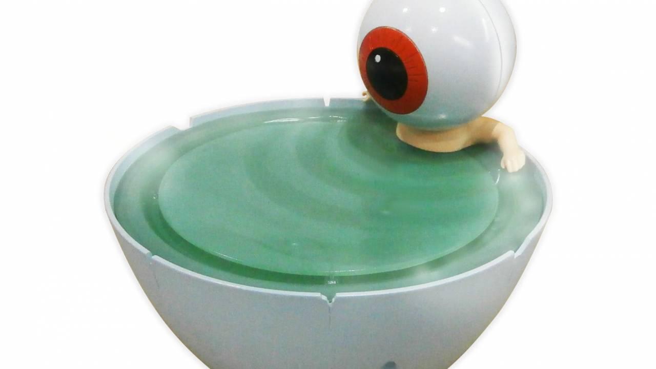 しゃ、しゃべるぞ!ゲゲゲの鬼太郎「目玉おやじ」の茶碗風呂での入浴シーン♡を再現した加湿器が登場