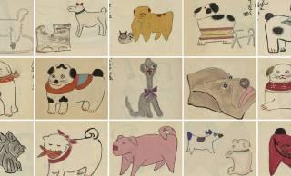 犬の民芸品や玩具を紹介した大正時代の作品「十二支画帖 犬の巻」が子供の絵みたいで可愛いすぎる♪