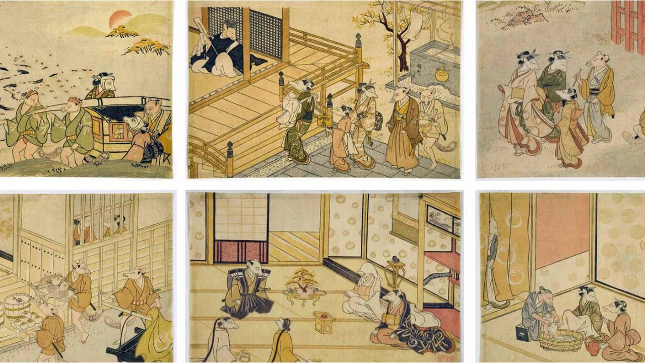 狐の嫁入りをストーリー仕立てで描いた江戸時代の作品「狐廼嫁以李」が面白い!