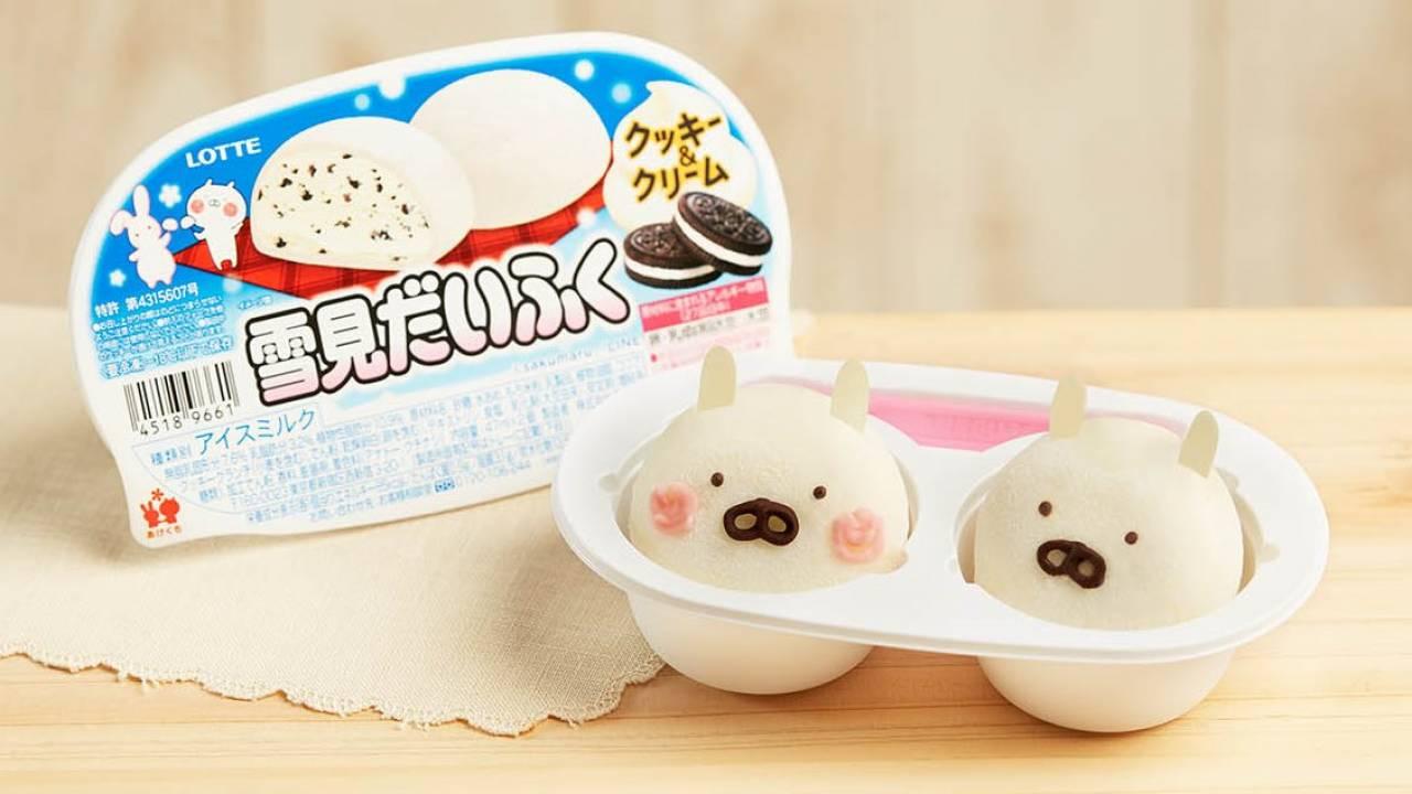 雪見だいふくが人気キャラクター「うさまる」とコラボで「雪見だいふくクッキー&クリーム」発売