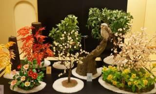 なんとコレお菓子!食べられる材料のみで作られた工芸菓子の展覧会が開催