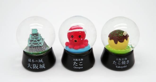 たこ焼きやめぇ(笑)天から優しく降りつもる青のり…「大阪限定スノードーム」登場!