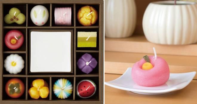 あら美味しそうな和菓子…じゃない!日本の四季を表現した和菓子そっくりなアロマキャンドル