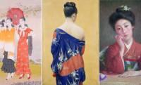 描かれた着物の実物も展示。明治〜昭和の女性のよそおいや美意識の変遷を辿る展覧会「モダン美人誕生」