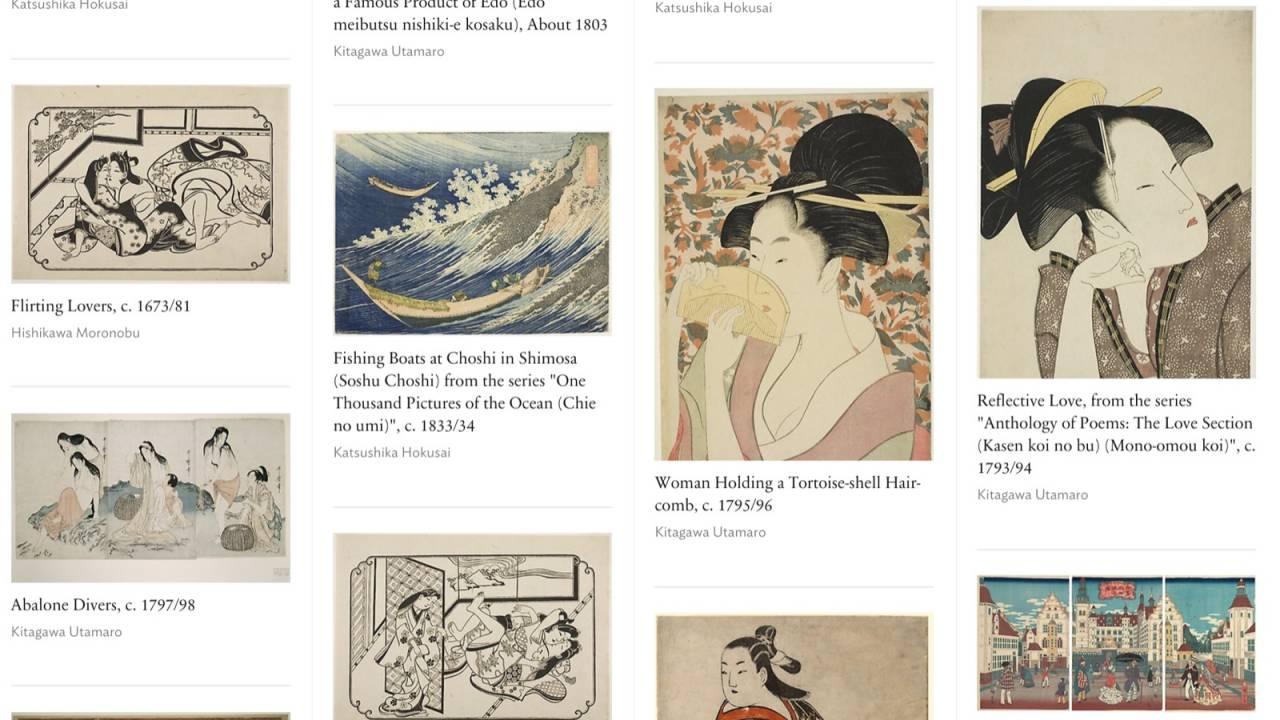 浮世絵や日本画も膨大!シカゴ美術館が5万件超の所蔵作品を無料ダウンロード公開!商用利用OK