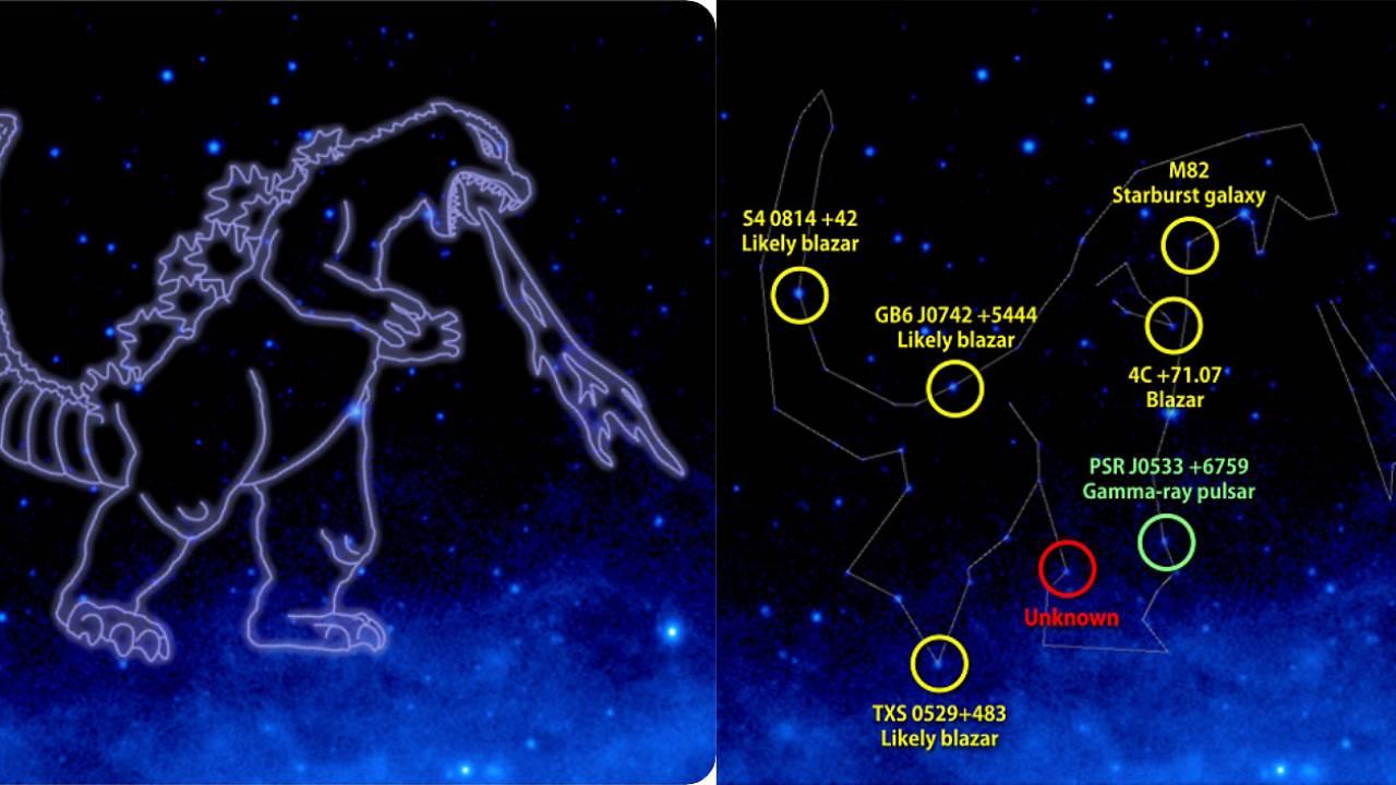 ゴジラさん、星座になる!NASAの研究チームが日本の怪獣史上初めて「ゴジラ」を星座に認定