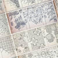 植物を図案化した330種もの伝統模様を掲載した明治時代の雛形本「唐草模様雛形」