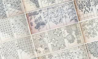 無料オンライン公開!植物を図案化した330種もの伝統模様を掲載した明治時代の雛形本「唐草模様雛形」