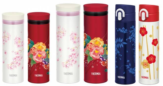 桜、牡丹…。サーモスのケータイマグに日本の花々をモチーフにした和風デザインが登場!