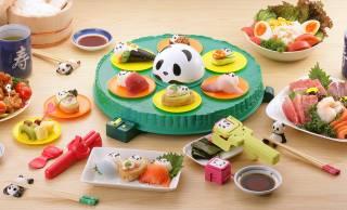 お弁当にもぴったり!パンダの可愛いお寿司がカンタンに作れる「超パンダおうちでコロコロ回転寿し」