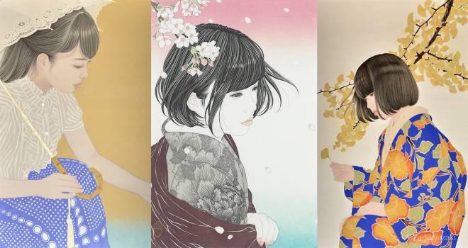 感動的に美しい!宮﨑優さんの美人画が彫師・摺師の手によって遂に浮世絵木版画に!