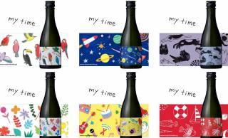 素敵ラベル♪上善如水の白瀧酒造から可愛い6種のラベルデザインの日本酒「純米吟醸マイタイム」登場