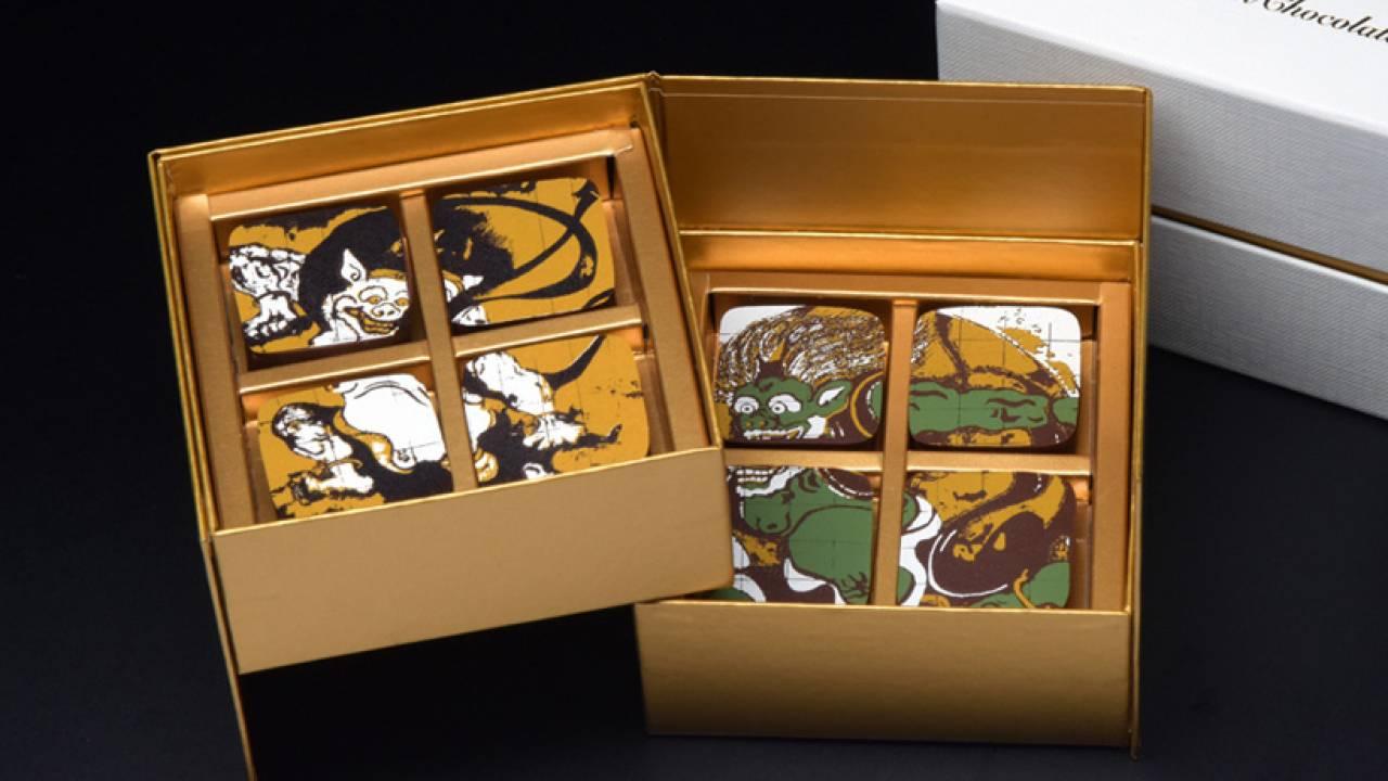 豪華絢爛な風神・雷神図があしらわれた岡田美術館のボンボン・ショコラが素敵!