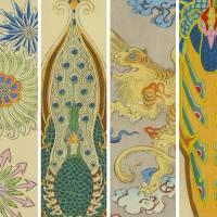 鳳凰やドラゴンが異国的で面白い!明治時代の図案集「工芸新図」がステキです!