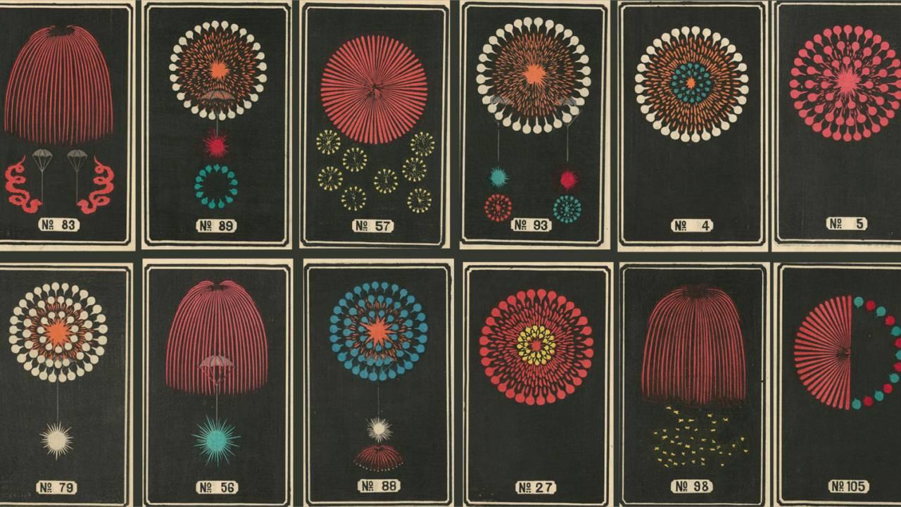 明治時代の海外向け花火カタログの味わい深いイラストがとっても素敵!
