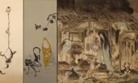 これは面白い!ゲゲゲ妖怪たちが日本画の名作にひょっこり登場するオマージュ画グッズが発売